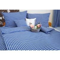 Bavlněný povlak na polštářek LUX 40x40cm kanafas modré srdíčko