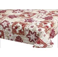 Vánoční ubrus - vánoční patchwork 100/100cm