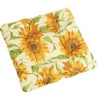 Sedák EMA prošívaný 40x40 cm květ slunečnice