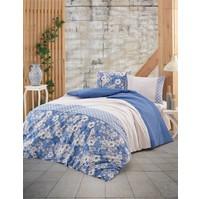 Povlečení francouzské bavlna 200x200,70x90 Dona blue, Výběr zapínání: nitěný knoflík