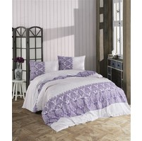Povlečení francouzské bavlna 200x200,70x90 Madelaine purple, Výběr zapínání: zipový uzávěr