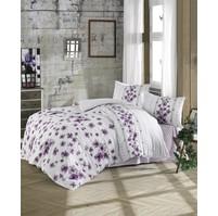 Povlečení francouzské bavlna 220x200,70x90 Lorieta purple, Výběr zapínání: nitěný knoflík