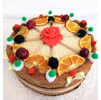 Veratex Textilní dort pomeranč jednopatrový