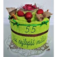 Veratex Textilní dort s výšivkou Vše nejlepší miláčku (21 barev)
