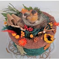 Veratex Textilní dort myslivecký - ptáček