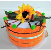 Veratex Textilní dort  jednopatrový žlutý květ