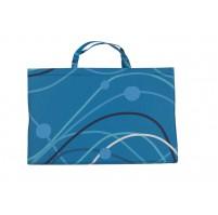YATE Plážové lehátko - modrá se vzorem