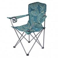 HIGHLANDER MORAY skládací židle s opěrkami - šedozelená