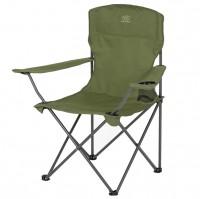 HIGHLANDER MORAY skládací židle s opěrkami - olivová